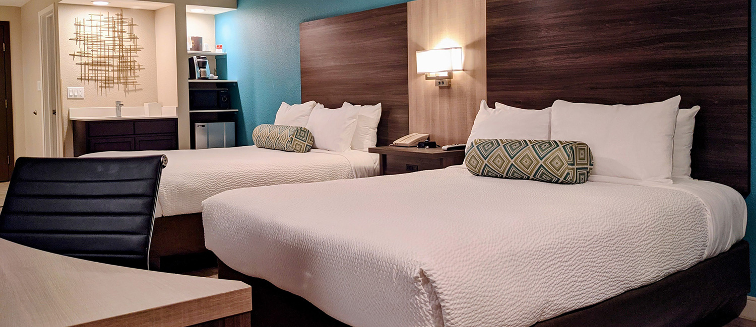 LARGE NEWLY REMODELED GUEST ROOMS ARE PERFECT FOR FAMILIES
