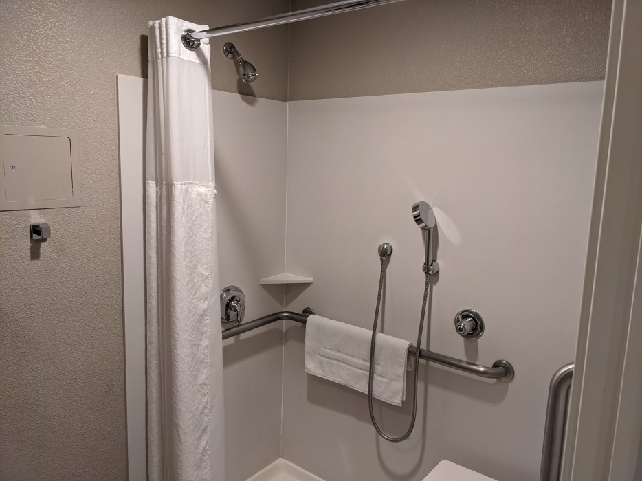 Yosemite Southgate - Shower Wand in King Accessible w Roll in Shower