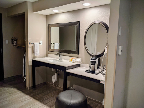 Lowered Vanity, Iron, Closet with Accessibility in Mind